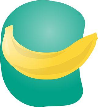 Sketch of banana fruit. Hand-drawn lineart look illustration