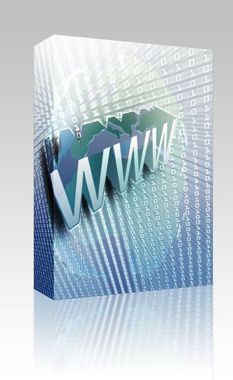 Software package box WWW Internet, online digital abstract wallpaper illustration