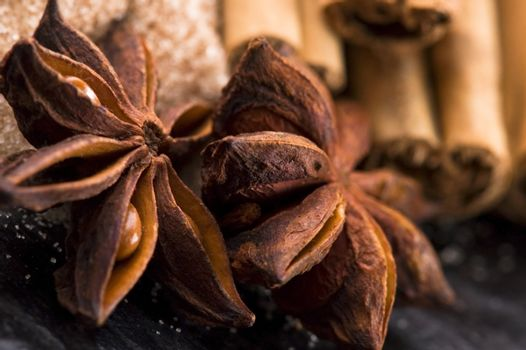 aromatic spices with brown sugar