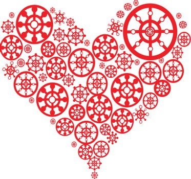 White valentines background with pattern heart. Vector illustration. Suits well for Valentine card