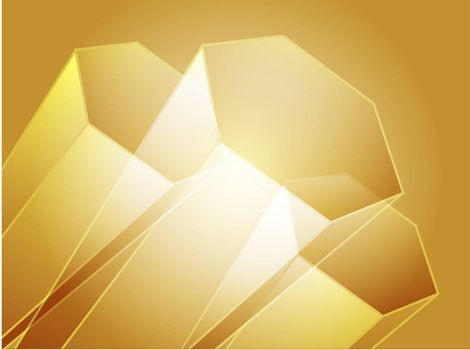 Abstract illustration wallpaper of 3d geometric hexagon shapes