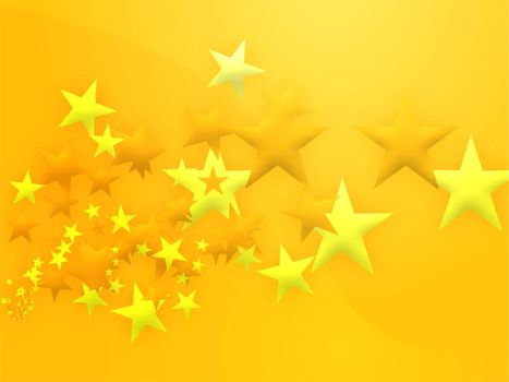 Abstract geometric wallpaper background of flying stars