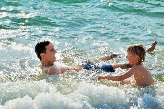 fun in sea