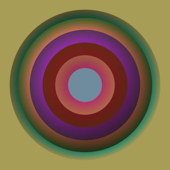Round circles of color, abstract illustration cartoon clipart design