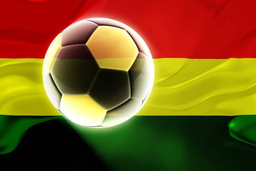 Flag of Bolivia, national country symbol illustration wavy fabric sports soccer football