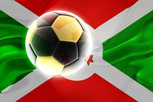 Flag of Burundi, national country symbol illustration wavy fabric sports soccer football