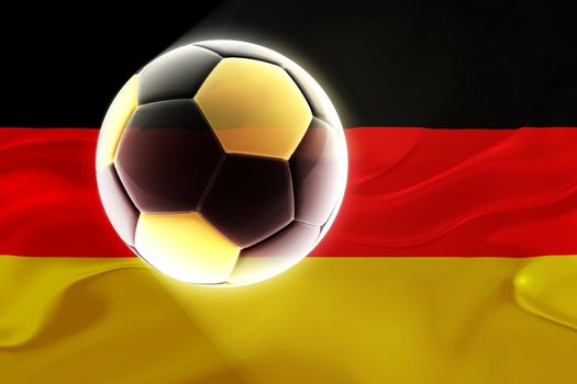 Flag of Germany, national country symbol illustration wavy fabric sports soccer football
