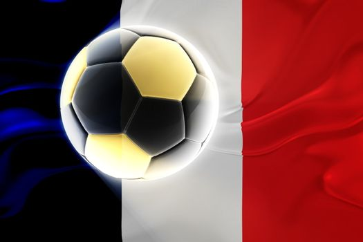Flag of France, national country symbol illustration wavy fabric sports soccer football