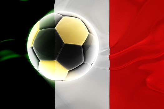 Flag of Italy, national country symbol illustration wavy fabric sports soccer football