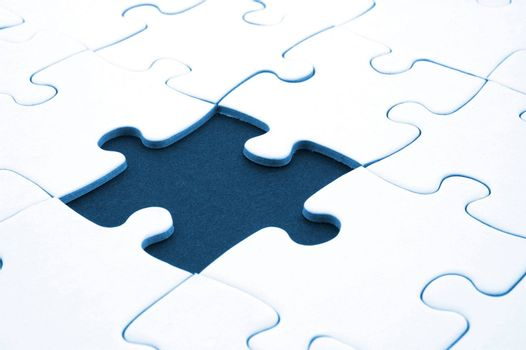 abstracg jigsaw puzzle background with missing piece