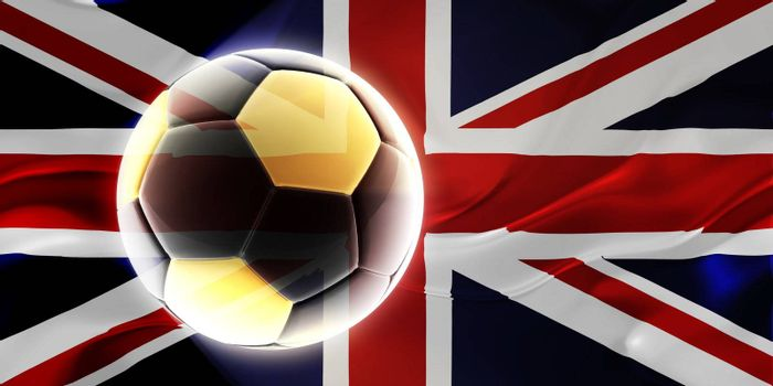 Flag of United Kingdom, national country symbol illustration wavy fabric sports soccer football