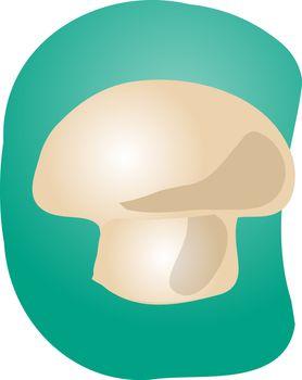 Sketch of a mushroom. Hand-drawn lineart look illustration
