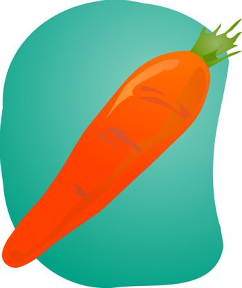 Sketch of a carrot. Hand-drawn lineart look illustration
