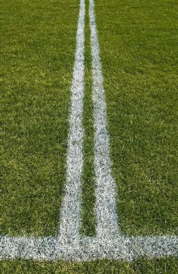 Double boundary line of a playing field