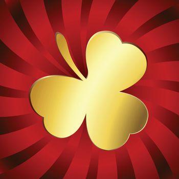 Golden lucky clover