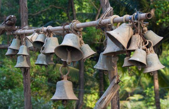 Old temple bells near buddha temple