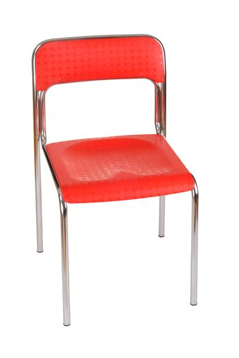 Red chair isolated on white background