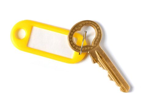 Isolated key on white background