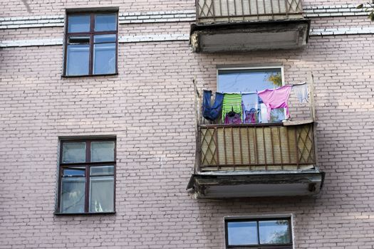 clean clothes on the loggia