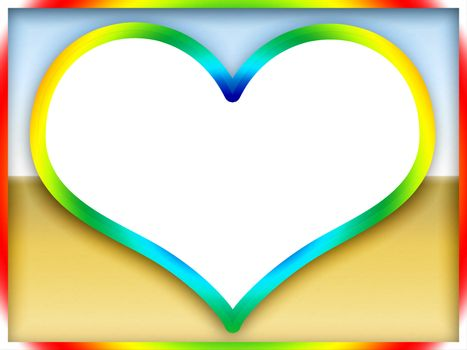 Colorful Love Frame