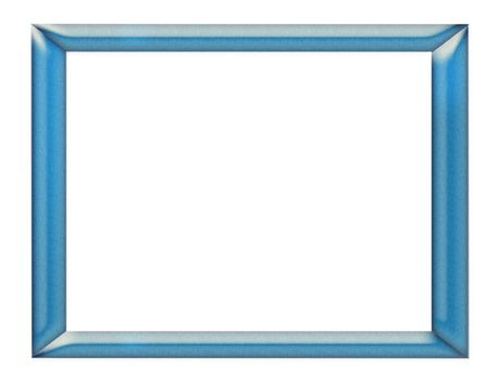 polished and nuanced blue frame on white background