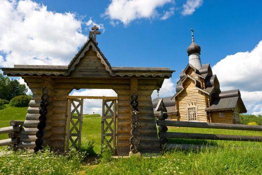 Wooden church gate
