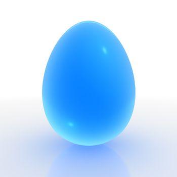 A Blue Translucent Egg