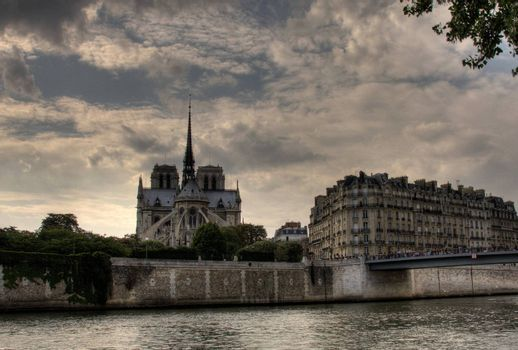 Notre Dame from the Seine river, Paris