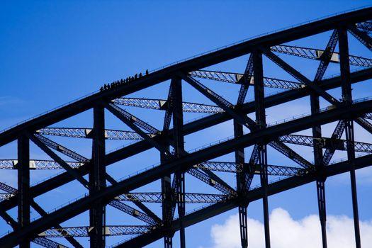 Climbers on the Sydney Harbour Bridge