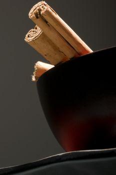 Cinnamon sticks in cup very elegant