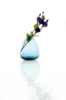 Pastel flowers in vase
