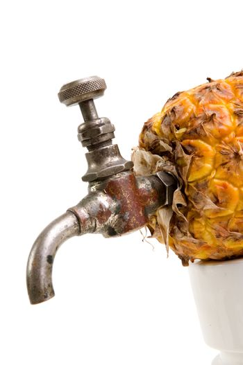 Ananas with tap