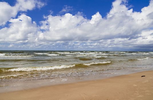 White waves in the Baltic sea