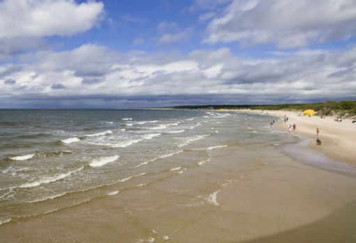 Lithuania. At the seaside of Baltic Sea