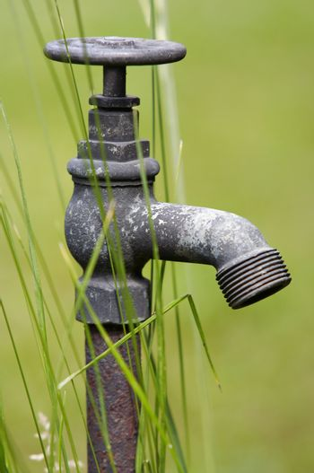 rusty water supply point