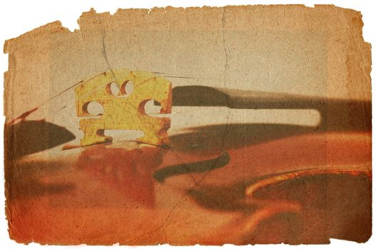 fiddle bridge in grunge style