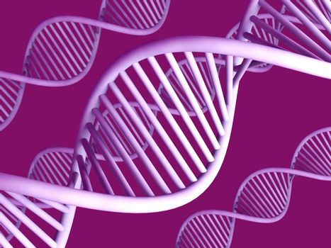 3D rendered double Helix / DNA.