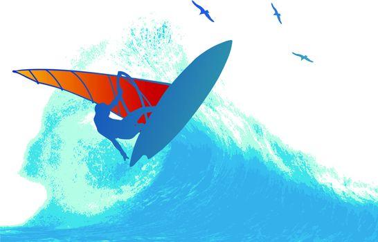 Wind Surfer Wave