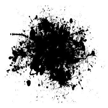 black dribble grunge