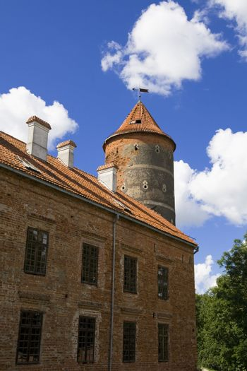 Old castle tower in lithuania, Panemune regional park