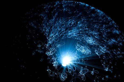 Fibre optic motion