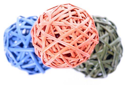 Colorful woven balls