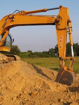 heavy duty back hoe construction equipment