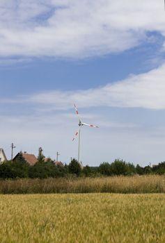 Clean energy white wind turbine in europe