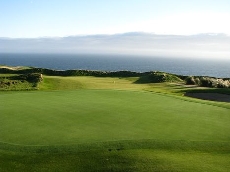 Golf course on a steamy ocean setting