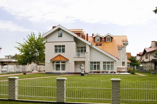 New modern house in residential area