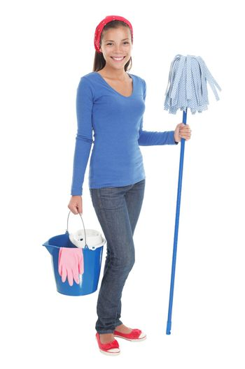 House cleaning woman