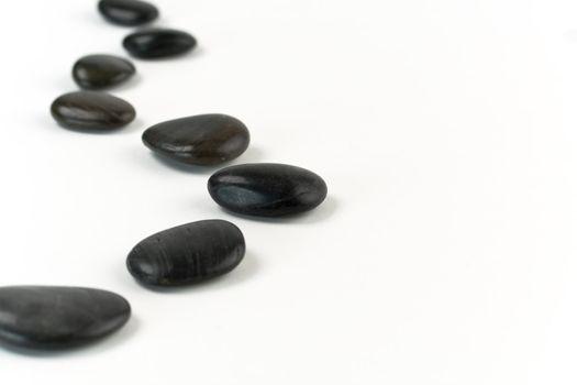 Eight pebbles