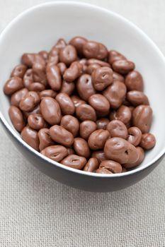 Raisins covered in chocolate