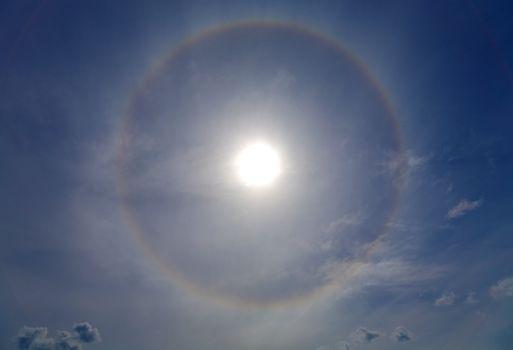 Halo around of the sun